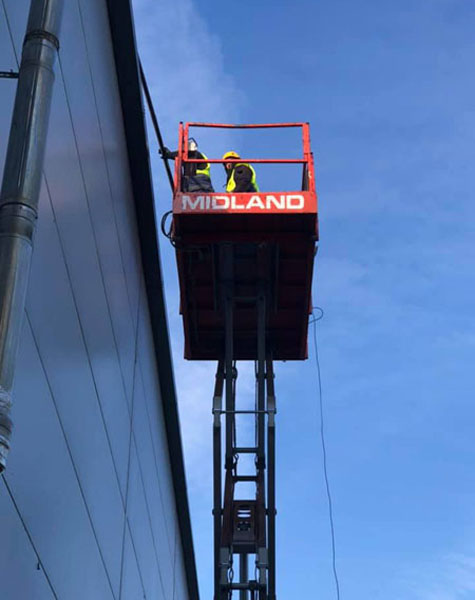 safe cleaning at height