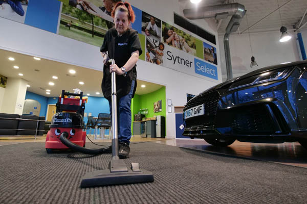 showroom cleaning in car dealership