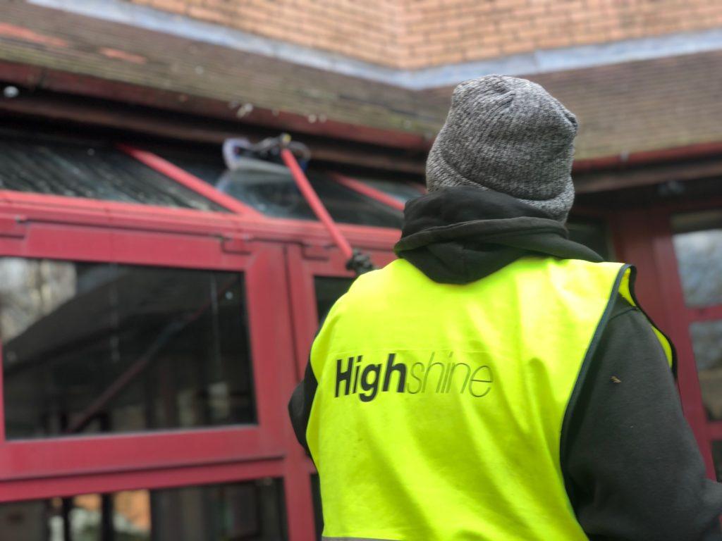 High Shine window cleaning